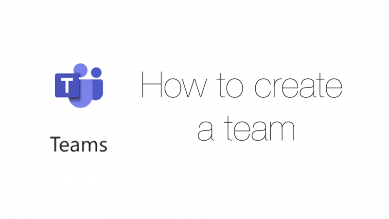 How to create a Team