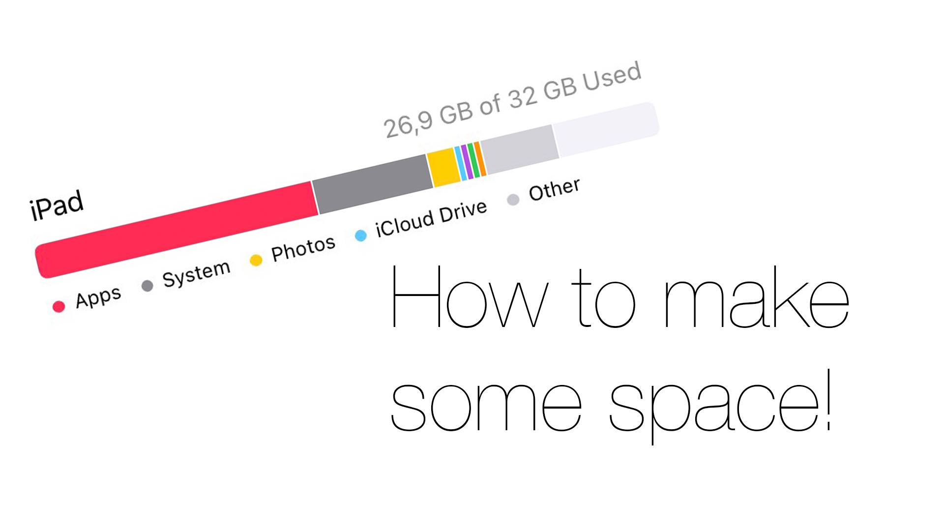 How to make some space